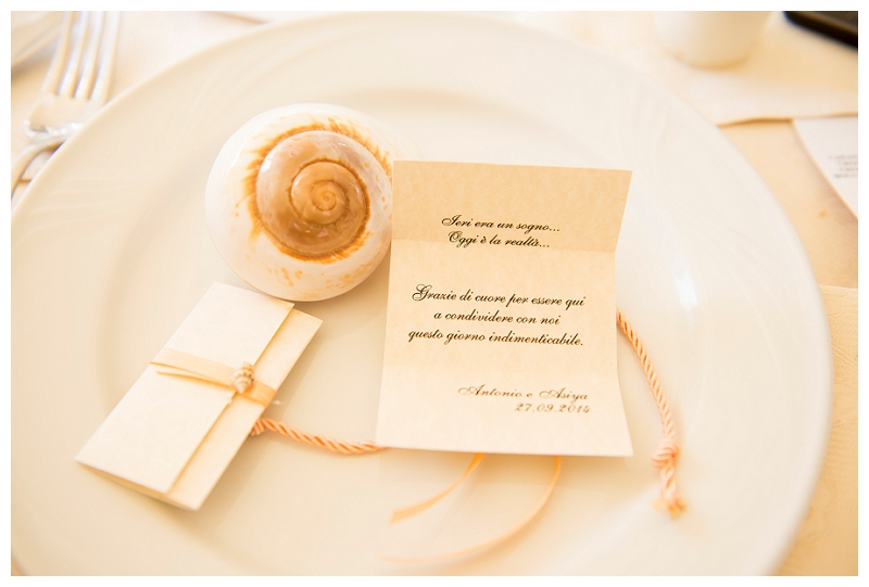Thanks Card Wedding Sardinia