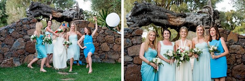 Bride Bridesmaids Portrais Sardinia