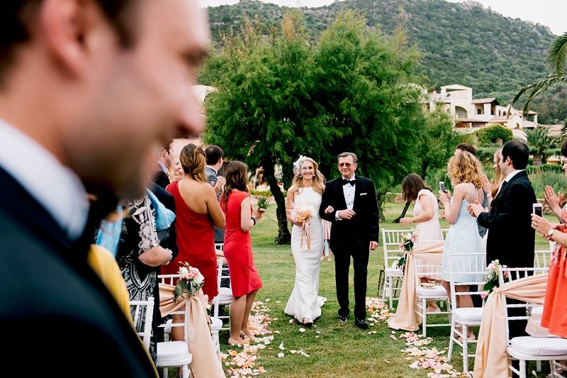Garden wedding in Sardinia