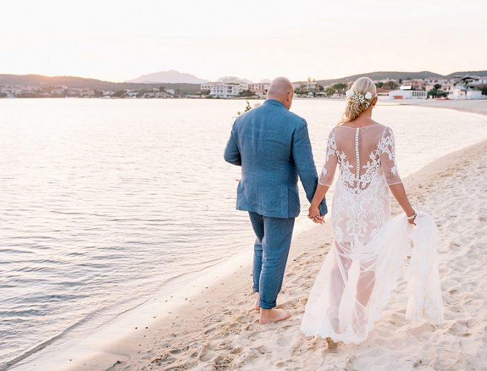 Intimate wedding on the beach Sardinia