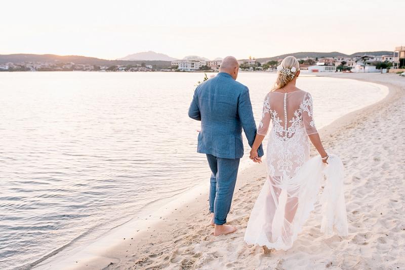 Intimate wedding on the beach Sardinia